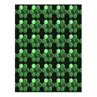 Sparkle Hexagon Emerald Green Pattern NVN289 gifts Post Cards