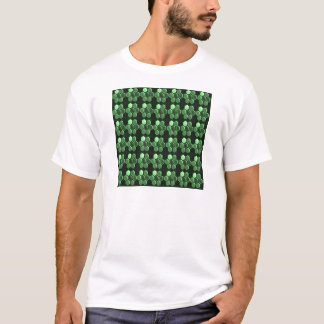 Sparkle Hexagon Emerald Green Pattern NVN289 gifts T-Shirt