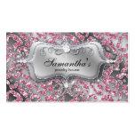Sparkle Jewellery Business Card Zebra Classy Pink