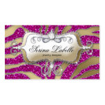 Sparkle Jewellery Business Card Zebra Gold Hot