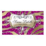 Sparkle Jewellery Business Card Zebra Gold Hot Pin
