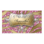 Sparkle Jewellery Business Card Zebra Gold Pink