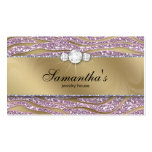 Sparkle Jewellery Business Card Zebra Gold Pink 2