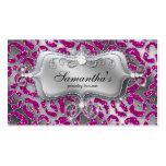 Sparkle Jewellery Business Card Zebra Hot Pink Sil
