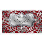 Sparkle Jewellery Business Card Zebra Red Silver