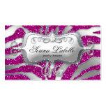 Sparkle Jewellery Business Card Zebra Silver Pink