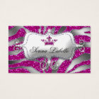 Sparkle Jewellery Zebra Crown Hot Pink 232 Business Card
