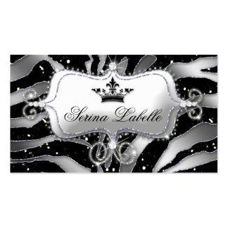 Sparkle Jewelry Business Card Zebra Crown Black 2