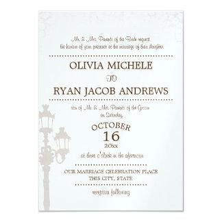 Sparkle Lamp Post Gala Wedding 11 Cm X 16 Cm Invitation Card