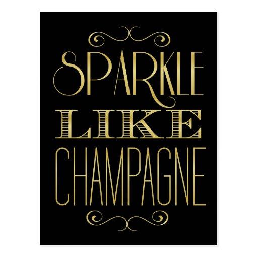 Sparkle Like Champagne Postcard