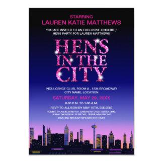 Sparkle Look Hens' / Lingerie Movie Poster Party 13 Cm X 18 Cm Invitation Card