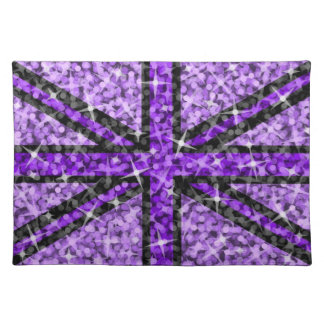 Sparkle Look UK Purple Black placemat