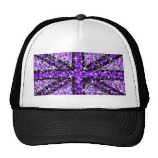 Sparkle Look UK Purple Black trucker hat black