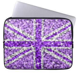 Sparkle Look UK Purple laptop sleeve 13 inch