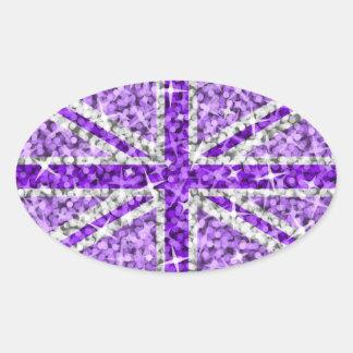 Sparkle Look UK Purple sticker oval