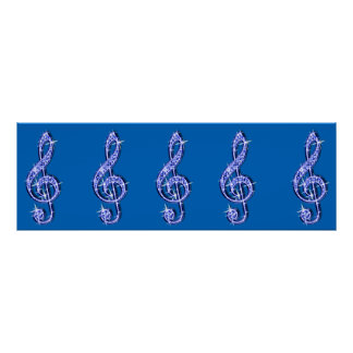 Sparkle Music Note  Birthday Poster