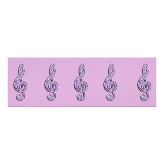 Sparkle Music Notes  Birthday Posters
