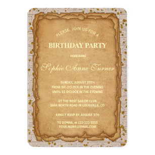 Papyrus cards invitations zazzle sparkle papyrus ancient birthday invitation m4hsunfo