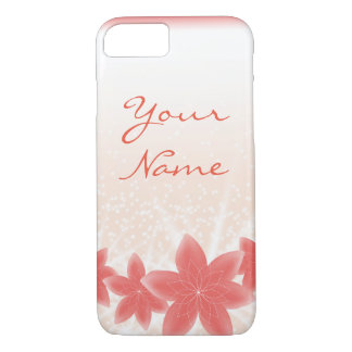 Sparkle Peach Shiny flowers iPhone iPhone 8/7 Case