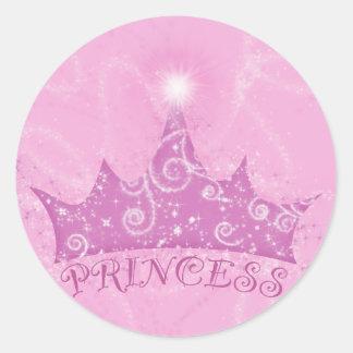 Sparkle Princess Classic Round Sticker
