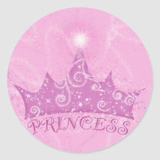 Sparkle Princess Round Sticker