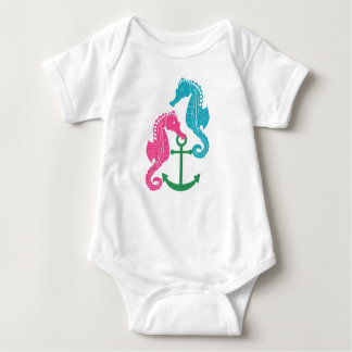 Sparkle Seahorses and Anchor Baby Bodysuit