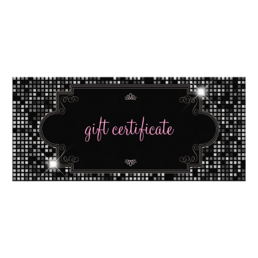 Sparkle & Shine Gift Certificate : Rack Card