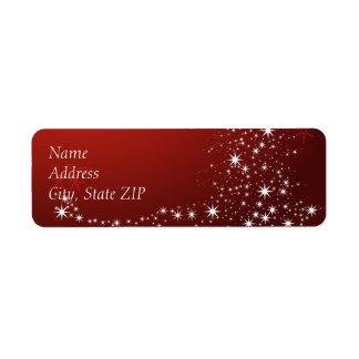 Sparkle & Shine-Red Return Address Label