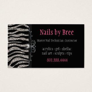 Sparkle & Shine Zebra : Business Card