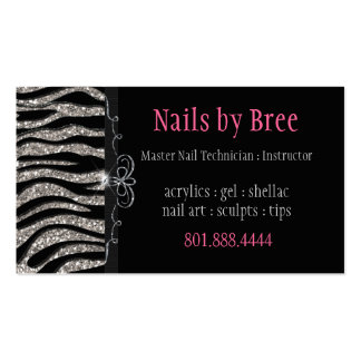 Sparkle Shine Zebra Business Card