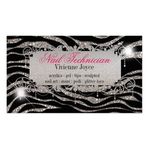 Sparkle & Shine Zebra : Business Cards