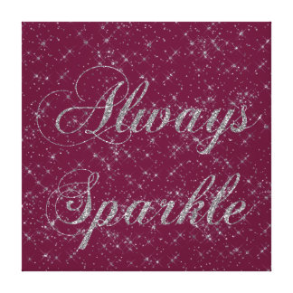 Sparkle Silver Glitter Gallery Wrap Canvas