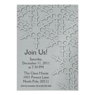 Sparkle Snowflake Design 13 Cm X 18 Cm Invitation Card