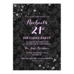 Sparkle Stars 21st Birthday Invitation