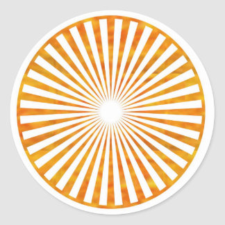 Sparkle Sun Chakra - Uses Sunflower Petal Colors Round Sticker