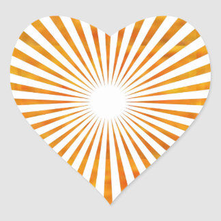 Sparkle Sun Chakra - Uses Sunflower Petal Colors Heart Sticker