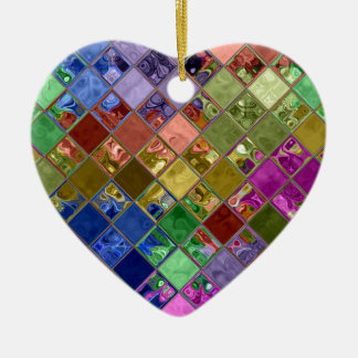 Sparkle Tiles Mosaic Art Ceramic Heart Decoration