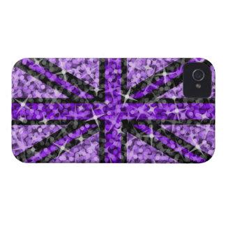 'Sparkle' UK Purple Black iPhone 4 ID/credit card Case-Mate iPhone 4 Cases
