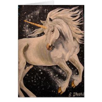 ":Sparkle"" Unicorn Greeting Card"