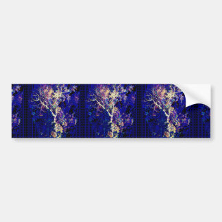 Sparkle Vibrant Flowers Graffiti return+gifts fun Bumper Sticker