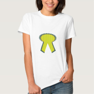 Sparkle Yellow Gold RIBBON Award NVN283 Guest ID Tees