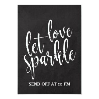 Sparkler Send Off  Affordable Chalkboard Sign Card