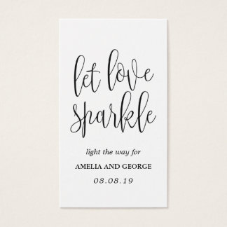 Sparkler Send off Tags Lovely Calligraphy