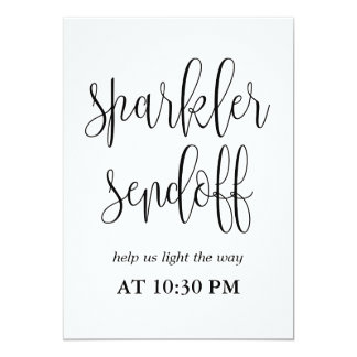 Sparkler Sendoff Sign - Lovely Calligraphy Card