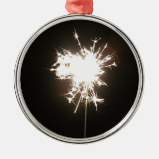 Sparkler Silver-Colored Round Decoration