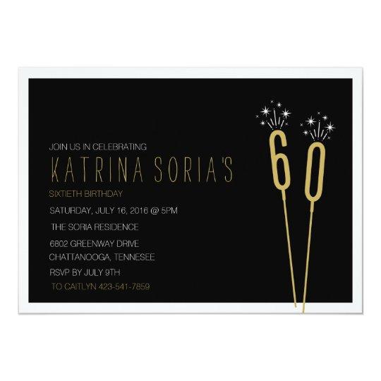 Sparkler Soiree Milestone Birthday Invitation