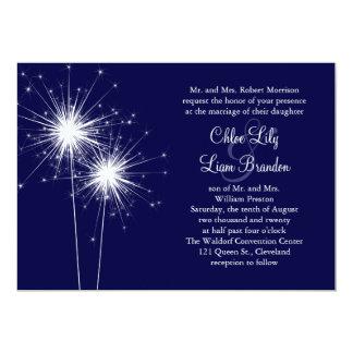 Sparkler Wedding Invitation in Blue