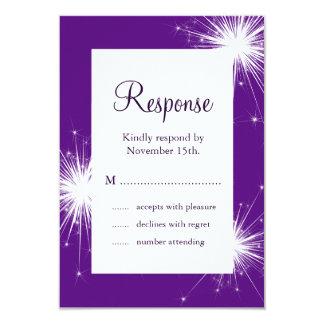 Sparkler Wedding RSVP (purple) Card