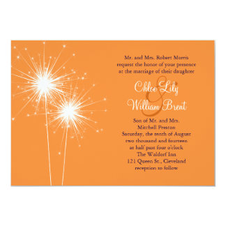 Sparklers Wedding Invitation