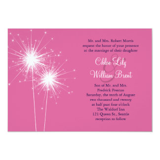 Sparklers Wedding Invitation (pink)